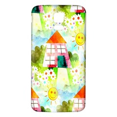 Summer House And Garden A Completely Seamless Tile Able Background Samsung Galaxy S5 Back Case (White)
