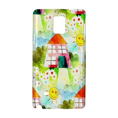 Summer House And Garden A Completely Seamless Tile Able Background Samsung Galaxy Note 4 Hardshell Case