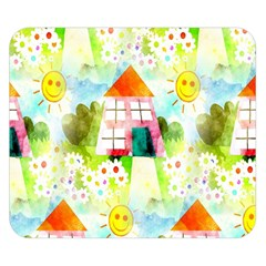Summer House And Garden A Completely Seamless Tile Able Background Double Sided Flano Blanket (small)