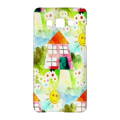 Summer House And Garden A Completely Seamless Tile Able Background Samsung Galaxy A5 Hardshell Case
