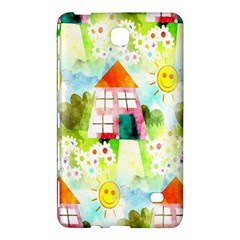 Summer House And Garden A Completely Seamless Tile Able Background Samsung Galaxy Tab 4 (8 ) Hardshell Case