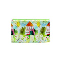 Summer House And Garden A Completely Seamless Tile Able Background Cosmetic Bag (XS)