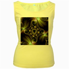 Magic Swirl Women s Yellow Tank Top