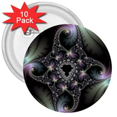 Magic Swirl 3  Buttons (10 pack)