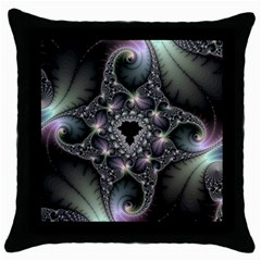 Magic Swirl Throw Pillow Case (Black)