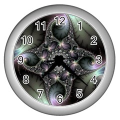 Magic Swirl Wall Clocks (Silver)