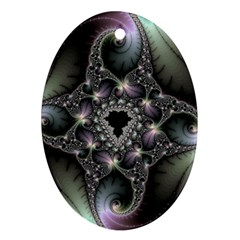 Magic Swirl Oval Ornament (two Sides)