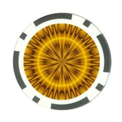 Fractal Yellow Kaleidoscope Lyapunov Poker Chip Card Guard