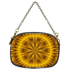 Fractal Yellow Kaleidoscope Lyapunov Chain Purses (one Side)