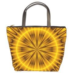 Fractal Yellow Kaleidoscope Lyapunov Bucket Bags