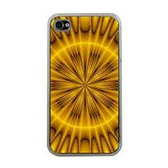 Fractal Yellow Kaleidoscope Lyapunov Apple iPhone 4 Case (Clear)