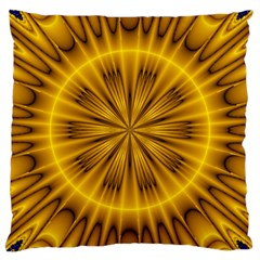 Fractal Yellow Kaleidoscope Lyapunov Large Cushion Case (One Side)