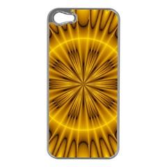 Fractal Yellow Kaleidoscope Lyapunov Apple iPhone 5 Case (Silver)