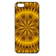 Fractal Yellow Kaleidoscope Lyapunov Apple iPhone 5 Seamless Case (Black)