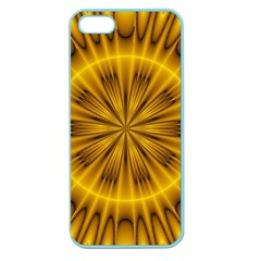 Fractal Yellow Kaleidoscope Lyapunov Apple Seamless iPhone 5 Case (Color)