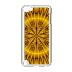 Fractal Yellow Kaleidoscope Lyapunov Apple iPod Touch 5 Case (White)