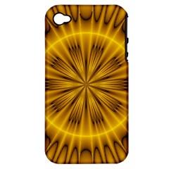 Fractal Yellow Kaleidoscope Lyapunov Apple iPhone 4/4S Hardshell Case (PC+Silicone)