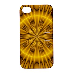 Fractal Yellow Kaleidoscope Lyapunov Apple iPhone 4/4S Hardshell Case with Stand