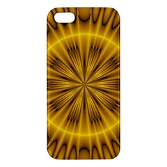 Fractal Yellow Kaleidoscope Lyapunov Apple iPhone 5 Premium Hardshell Case