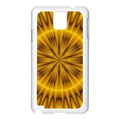 Fractal Yellow Kaleidoscope Lyapunov Samsung Galaxy Note 3 N9005 Case (White)