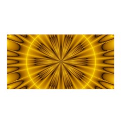 Fractal Yellow Kaleidoscope Lyapunov Satin Wrap