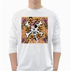 Banner Header Tapete White Long Sleeve T-Shirts