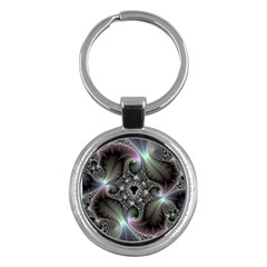 Precious Spiral Wallpaper Key Chains (Round)