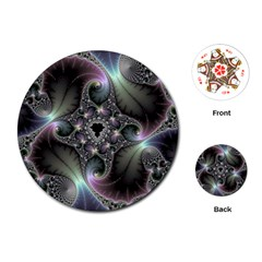 Precious Spiral Wallpaper Playing Cards (Round)