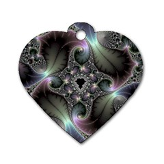 Precious Spiral Wallpaper Dog Tag Heart (one Side)
