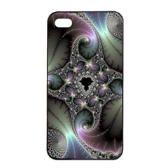 Precious Spiral Wallpaper Apple iPhone 4/4s Seamless Case (Black)