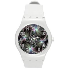 Precious Spiral Wallpaper Round Plastic Sport Watch (M)