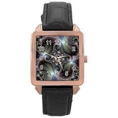 Precious Spiral Wallpaper Rose Gold Leather Watch