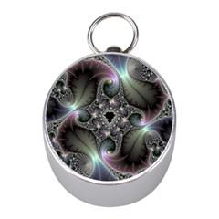 Precious Spiral Wallpaper Mini Silver Compasses