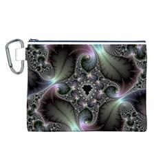 Precious Spiral Wallpaper Canvas Cosmetic Bag (L)