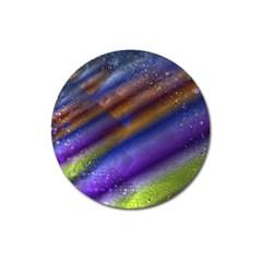 Fractal Color Stripes Magnet 3  (round)