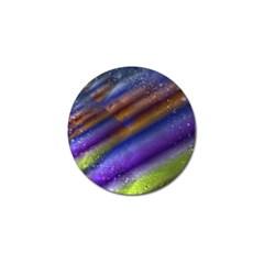 Fractal Color Stripes Golf Ball Marker (10 pack)