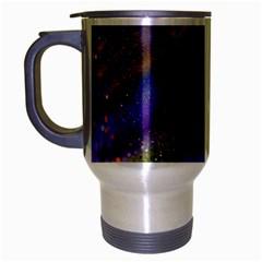 Fractal Color Stripes Travel Mug (silver Gray)