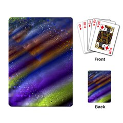 Fractal Color Stripes Playing Card