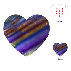 Fractal Color Stripes Playing Cards (heart)