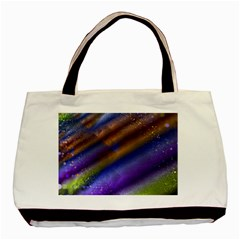 Fractal Color Stripes Basic Tote Bag