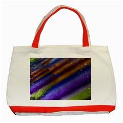 Fractal Color Stripes Classic Tote Bag (Red)