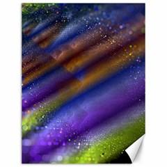 Fractal Color Stripes Canvas 12  X 16