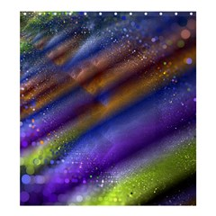 Fractal Color Stripes Shower Curtain 66  X 72  (large)