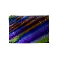 Fractal Color Stripes Cosmetic Bag (medium)
