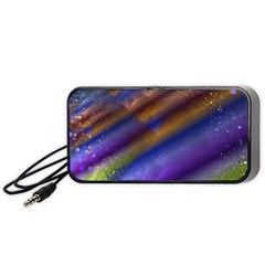 Fractal Color Stripes Portable Speaker (Black)