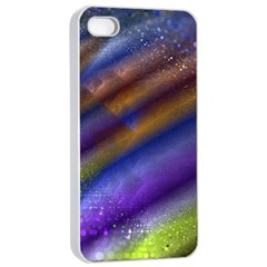 Fractal Color Stripes Apple iPhone 4/4s Seamless Case (White)