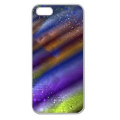 Fractal Color Stripes Apple Seamless iPhone 5 Case (Clear)