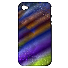 Fractal Color Stripes Apple iPhone 4/4S Hardshell Case (PC+Silicone)