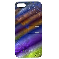 Fractal Color Stripes Apple iPhone 5 Hardshell Case with Stand