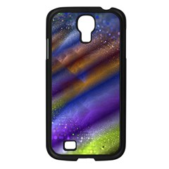 Fractal Color Stripes Samsung Galaxy S4 I9500/ I9505 Case (Black)